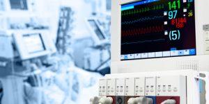 ICU with ECG monitor
